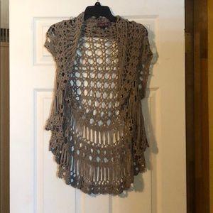 Tan Rock & Roll Cowgirl Vest